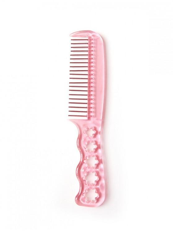 Hollowed Flower Pattern Hair Comb - 豬粉紅色