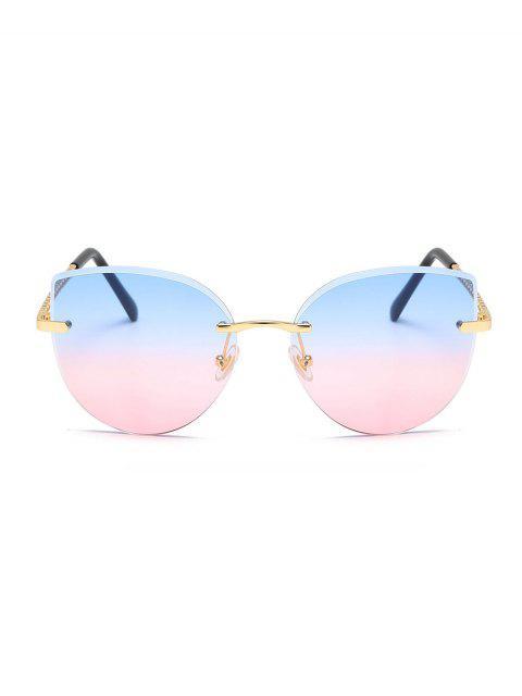 Gradient Schnittkante Randlos Sonnenbrille - Pulverblau  Mobile