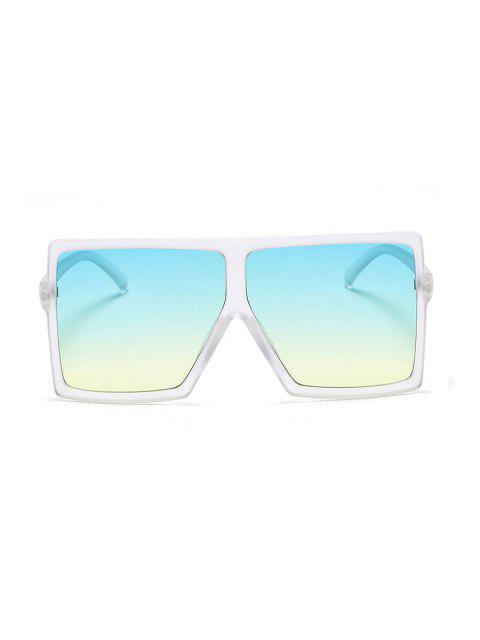 Lunettes de Soleil Carrées Dégradées Surdimensionnées - Blanc  Mobile