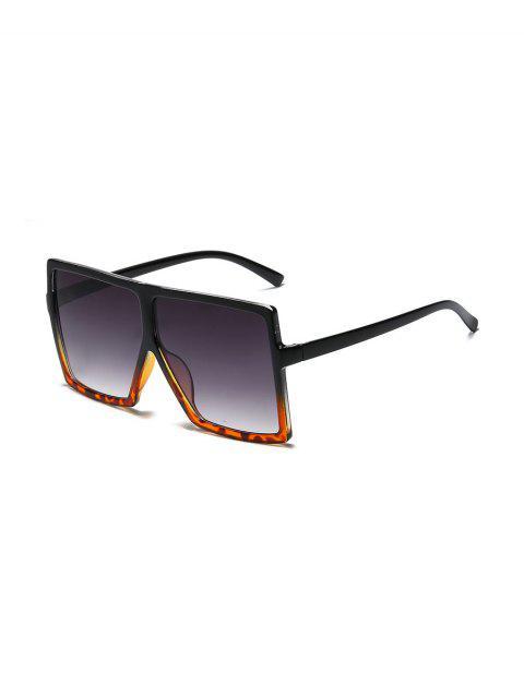 Градиент цвета Крупногабаритные Квадратные Солнцезащитные Очки - Тёмный-шифер серый цвет  Mobile