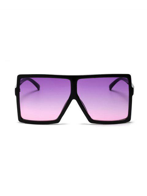 Градиент цвета Крупногабаритные Квадратные Солнцезащитные Очки - Тирьян-фиолетовый  Mobile