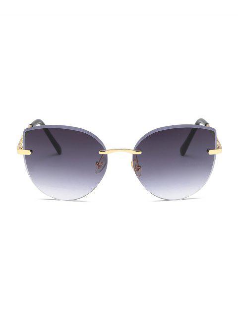 Gradient Schnittkante Randlos Sonnenbrille - Kohle Grau  Mobile