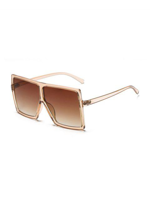 hot Oversized Gradient Square Sunglasses - TAN  Mobile