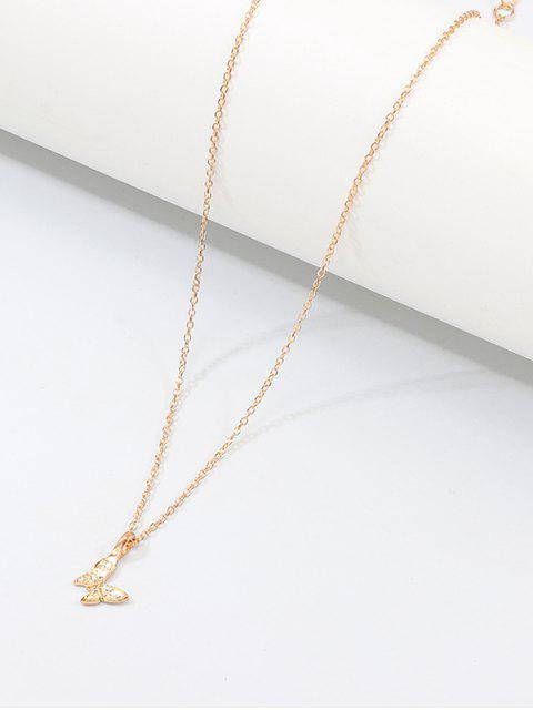 Резное Ожерелье Бабочка С подвеской - Золотой  Mobile