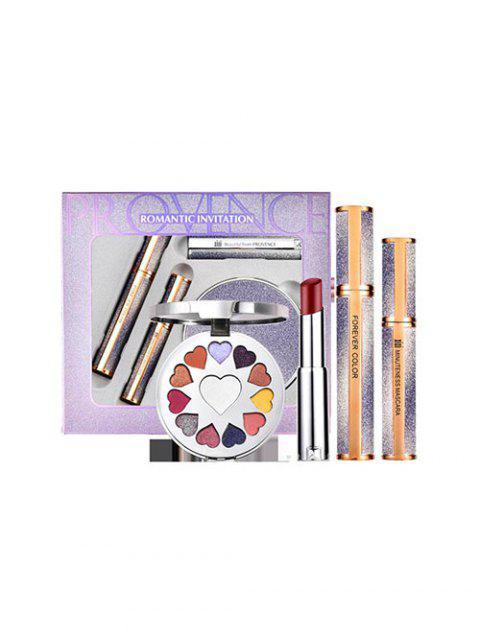 Ensemble de 4 Pièces Pinceaux à Maquillage pour Ombre à Paupières Mascara et Lèvres - Argent  Mobile