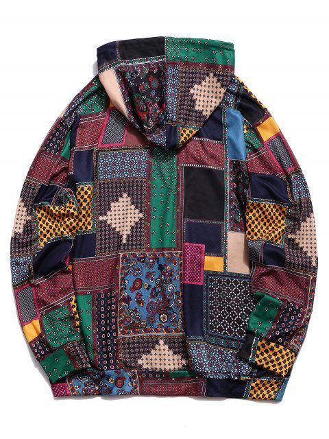 Glen Lässige Hoodie mit Karomuster und Taschen - Multi-A 2XL Mobile