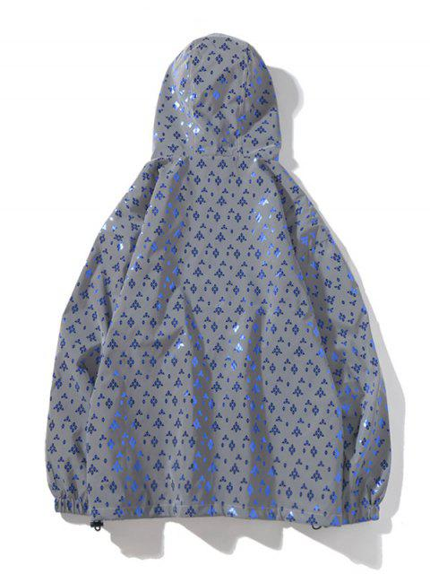 Reflektierende Reißverschluss Kapuzenjacke - Kristal Blau 2XL Mobile