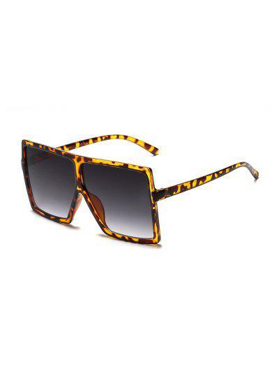 Übergroße Gradient-Platz Sonnenbrillen - Leopard
