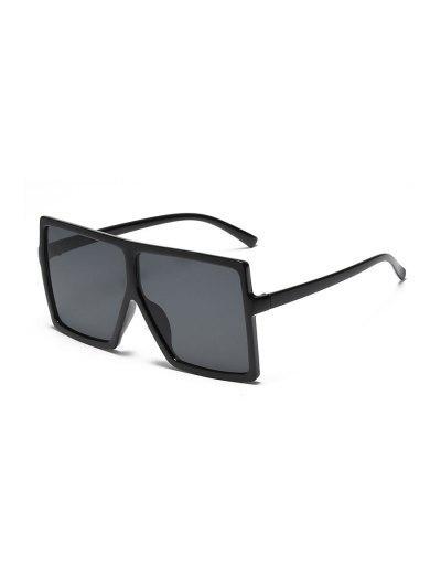 Oversized Gradient Square Sunglasses - Black