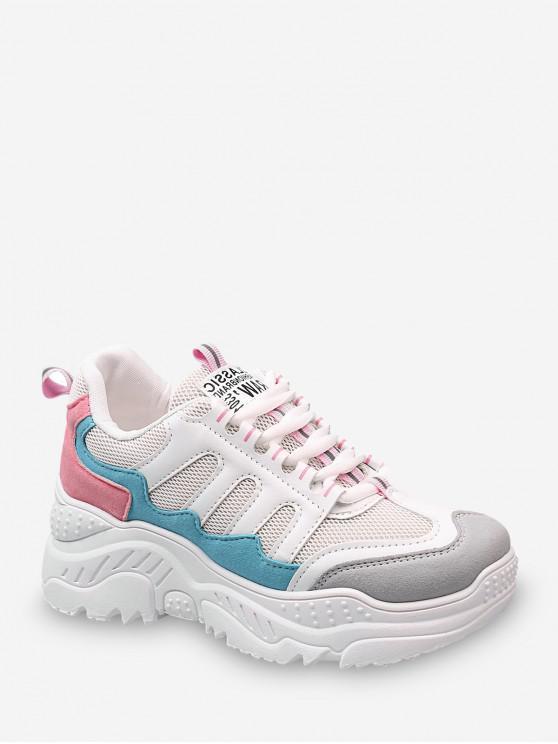 Confortabil Mesh Casual tata sneakers - Coralul Albastru UE 39