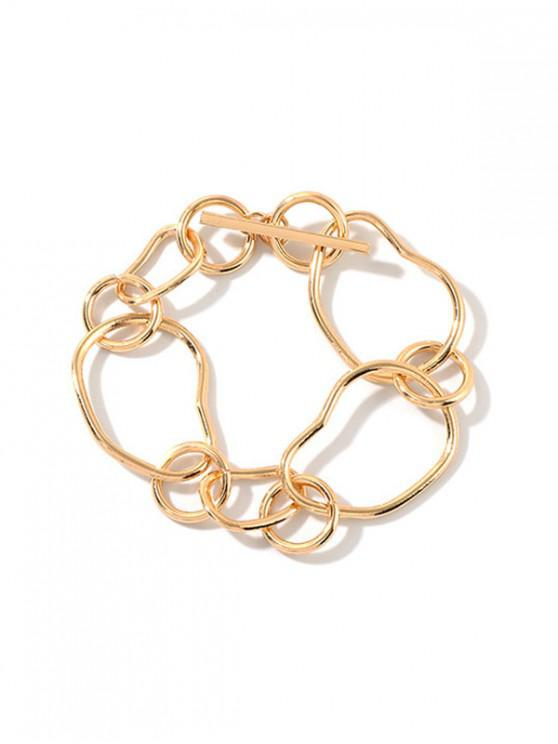 lady Simple Irregular Chain Bracelet - GOLD