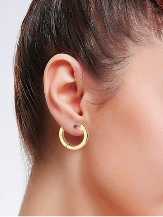 unique Brief Sterling Silver Huggie Earrings - GOLD