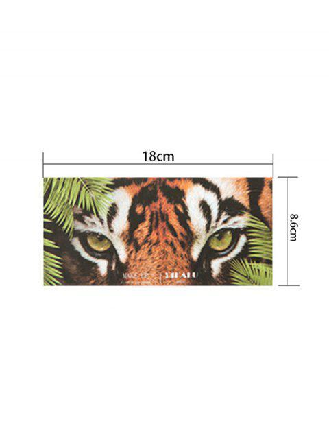 12 Couleurs Palette d'Ombres à Paupières Scintillantes à Imprimé Animal - Multi-B  Mobile