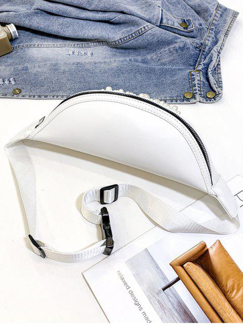 Taschen-Reißverschluss-Perle Verzierte Brust-Tasche - Warmweiß  Mobile