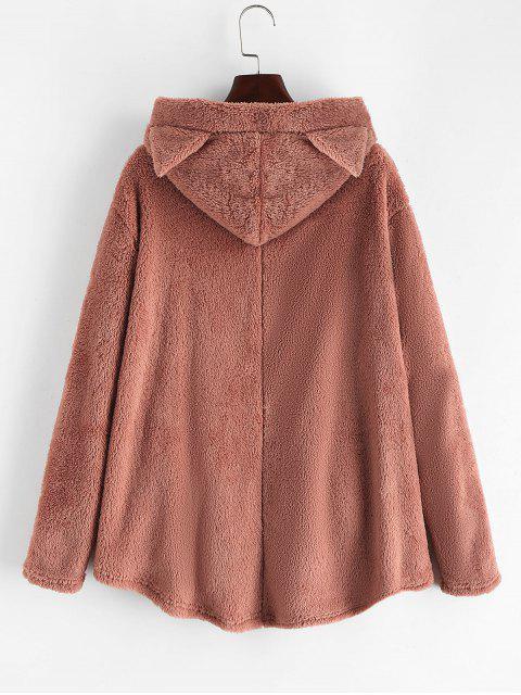 TaschenKatze Flauschige Jacke mit Knopf - Pink M Mobile