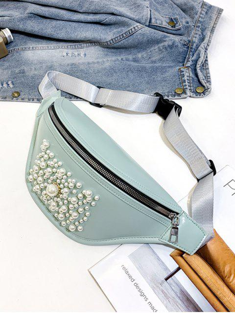 Taschen-Reißverschluss-Perle Verzierte Brust-Tasche - Hellblau Lilie  Mobile