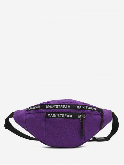 Hip-Hop-Taschen Canvas Brusttasche - Lila Iris  Mobile
