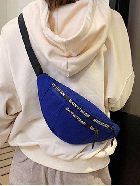 Leinwand-Hip-Hop-Taschen-Kasten-Tasche - Tiefes Blau  Mobile