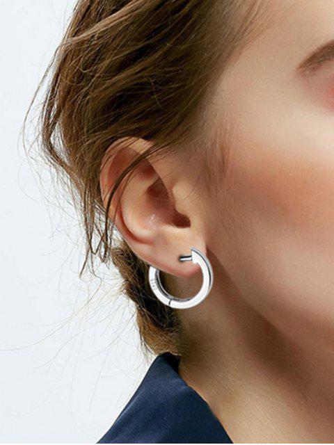 Buchstabe Sterling Silber Ohrringe mit Englischem Verschluss - Silber  Mobile