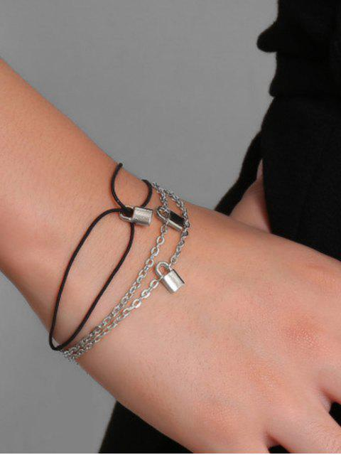 2ST Kleines Verschluss-Armband-Set - Silber  Mobile
