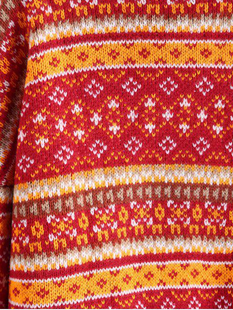 ZAFUL Stehkragen Intarsie Grafik Pullover - Multi M Mobile
