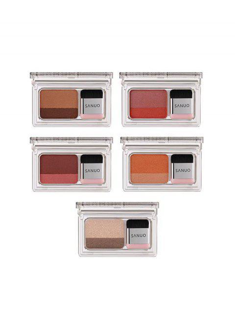 Palette d'Ombres à Paupières Bicolore à Paillette 5 Pièces - Multi-A  Mobile