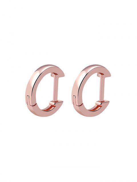 Стерлинговые Серебристые Серьги - Розовый золотистый   Mobile