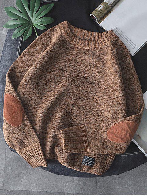 純色圓領套頭衫毛衣 - 黃褐色 XS Mobile