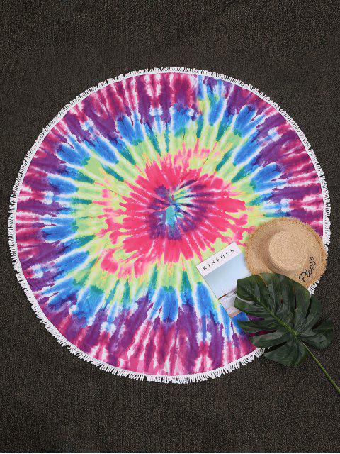 ZAFUL Manta de Playa con Tie-dye y Estampado de Salpicadura - Multicolor-A Talla única Mobile