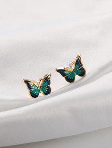 قطرات النفط الفراشة مسمار أقراط - أخضر
