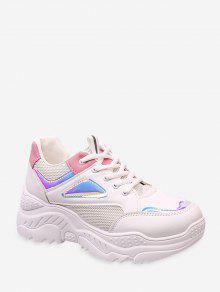 اللون حجب الليزر تريم أبي حذاء رياضة - أبيض الاتحاد الأوروبي 41