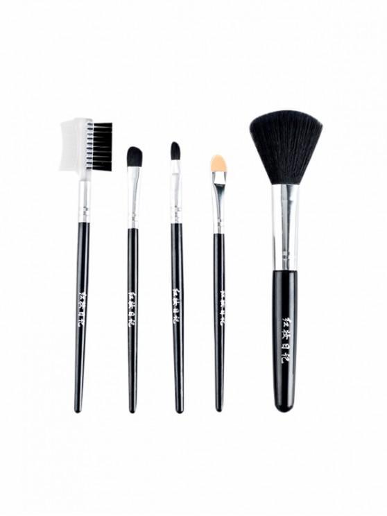 online 5Pcs Powder Shadow Makeup Brushes - BLACK