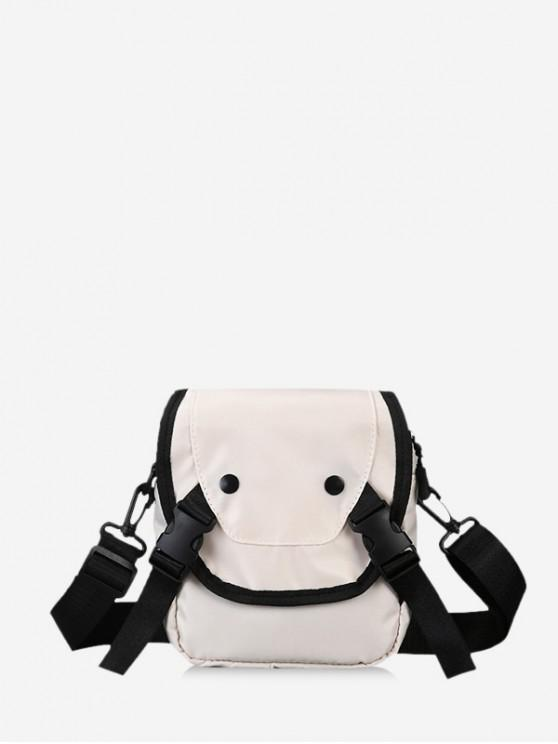 outfits Clip Buckle Casual Mini Crossbody Bag - WARM WHITE