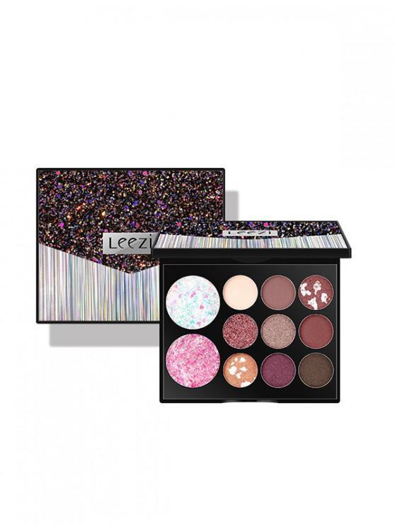 11 Farben Glitter Dauerhafte Lidschatten Paletten - Multi-A