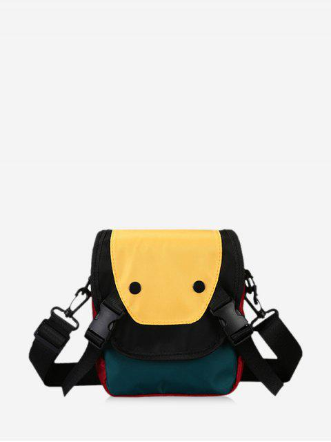 Clip Schnalle Lässige Mini Umhängetasche - Sonne Gelb  Mobile