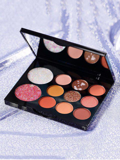 11 Farben Glitter Dauerhafte Lidschatten Paletten - Multi-B  Mobile