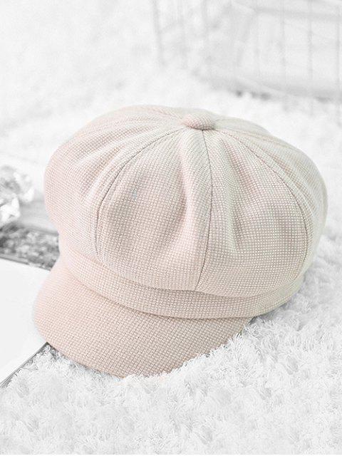 Зимняя Клетчатая Шляпа - Тёплый белый  Mobile