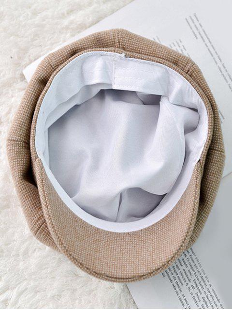 Зимняя Клетчатая Шляпа - Верблюд-коричневый  Mobile