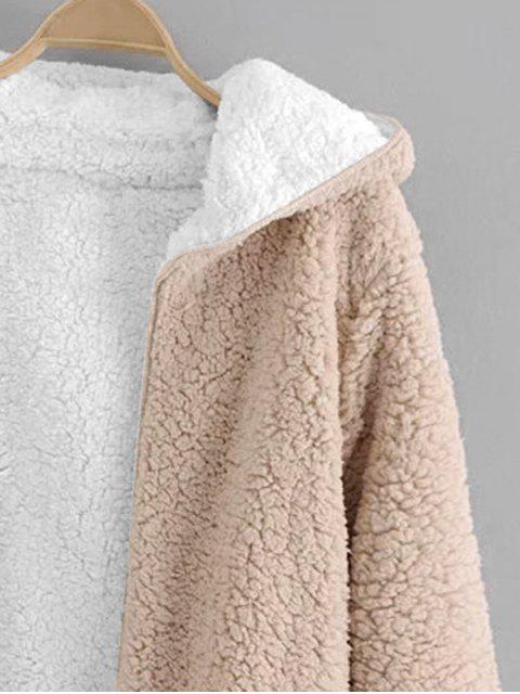 Abrigo Teddyde Lana de ovejaAbierto Frontal - Albaricoque S Mobile