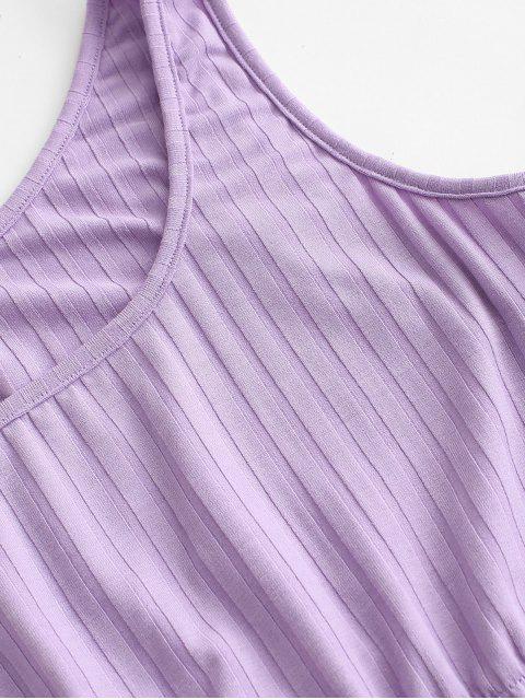 ZAFUL Conjunto de Falda Corta Acanalada - Púrpura M Mobile