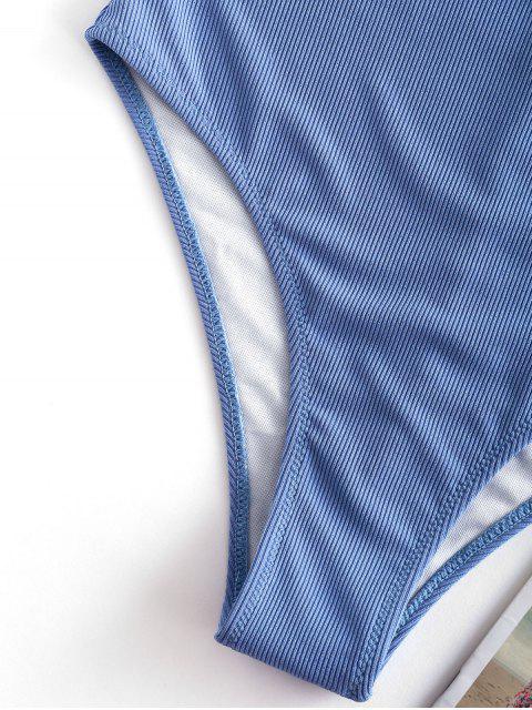 ZAFUL Costume da Bagno Intero Taglio Schiena Aperta - Blu Marino  M Mobile