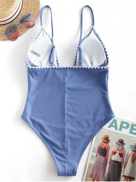 ZAFUL Costume da Bagno Intero Taglio Schiena Aperta - Blu Marino  L Mobile
