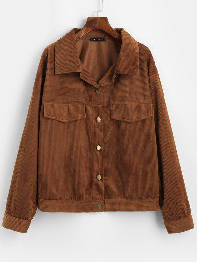 Solid Corduroy Shirt Jacket - from $20.97
