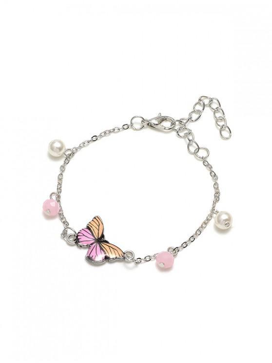 Kette Schmetterling-Form-Anhänger Armband - Goldrute