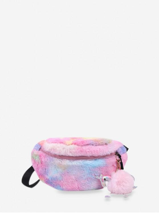 outfit Unicorn Charm Plush Colorful Chest Bag - MULTI-A