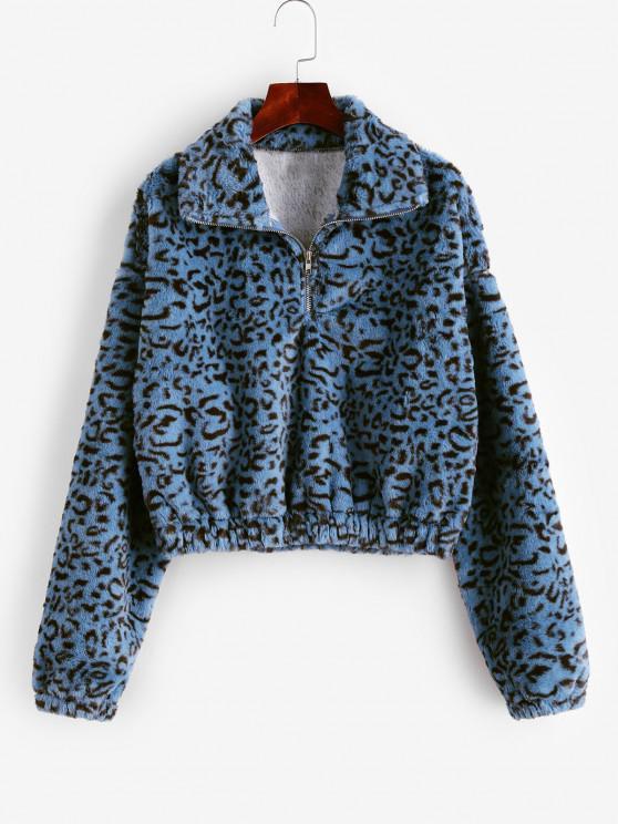 Sudadera Lana Estampado Leopardo - Multicolor-A XL