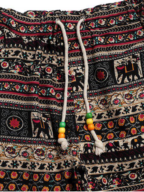 民族部落Ditsy圖形打印休閒慢跑褲 - 多-C XL Mobile