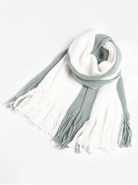 Quaste Stil Farbblock Schal - Hellblau Lilie  Mobile