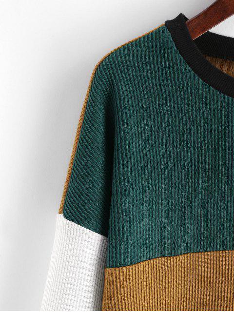 ZAFUL Farbblock Weites Sweatshirt mit Rundhalsausschnitt - Multi XL Mobile