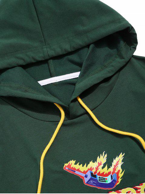 Graphic Brief Design Känguru-Taschen-Hoodie - Mittleres Meer Grün 2XL Mobile
